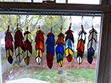 Two Stained Glass Indian Chief, Eagle, Ospry or any bird Feathers in your color choices