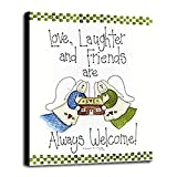 Love, Laughter And Friends Framed Print 32.34''x23.89'' by Debbie McMaster