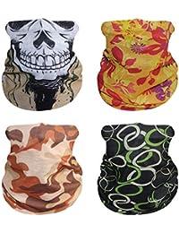 Summer Face Scarf Unisex, Gmark Sun Protection Breathable Neck Gaiter 4 Pieces