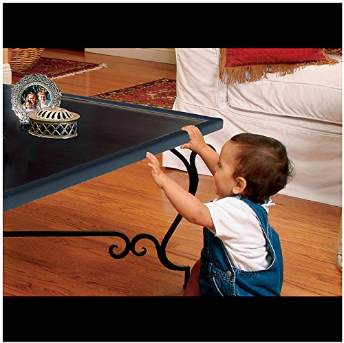 Furniture Edge and Corner Guards | 20.4ft Protective Foam Cushion | 18ft Bumper 8 Adhesive Childsafe Corners | Baby Child Proofing Set NonToxic and Safe For Table, Fireplace, Countertop | Black