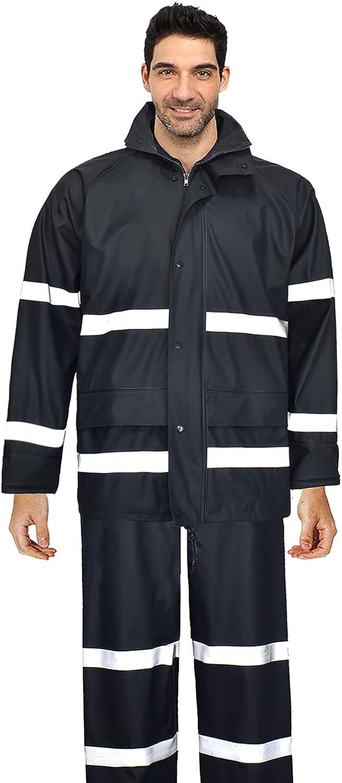 Rain Suits for Men Women Waterproof Heavy Duty Raincoat Fishing Rain Gear Jacket