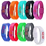 Ryanwayland® 2015 Top New Lots Of 10 Silicone Rubber Gel Jelly Unisex LED Wrist Watch Bracelet