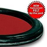 Trademark Poker 3 Yards Of Red Casino Grade Wool Blend Speed Cloth