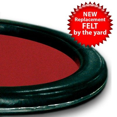 Trademark Poker 3 Yards Of Red Casino Grade Wool Blend Speed Cloth by Trademark Poker