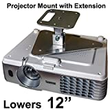 Projector-Gear Projector Ceiling Mount for OPTOMA W303ST with Extension Lowers 12