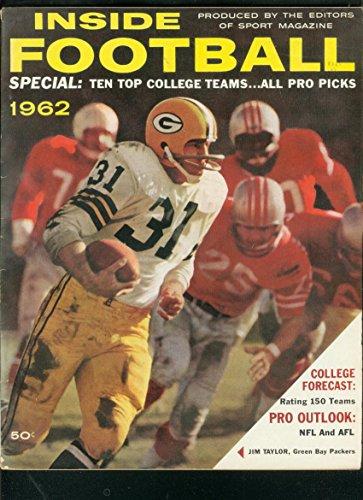 INSIDE FOOTBALL YEARBOOK 1962-JIM TAYLOR-PACKERS-NFL-NC FN ()