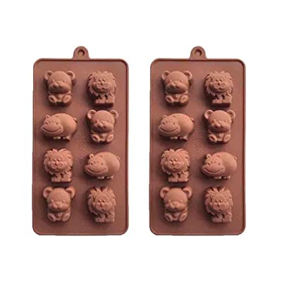 Fainosmny Lion Hippo Bear Silicone Soap Mold Candy Chocolate Fondant Tray Mould ICE Cube Cake Mould Baking Mold: Clothing
