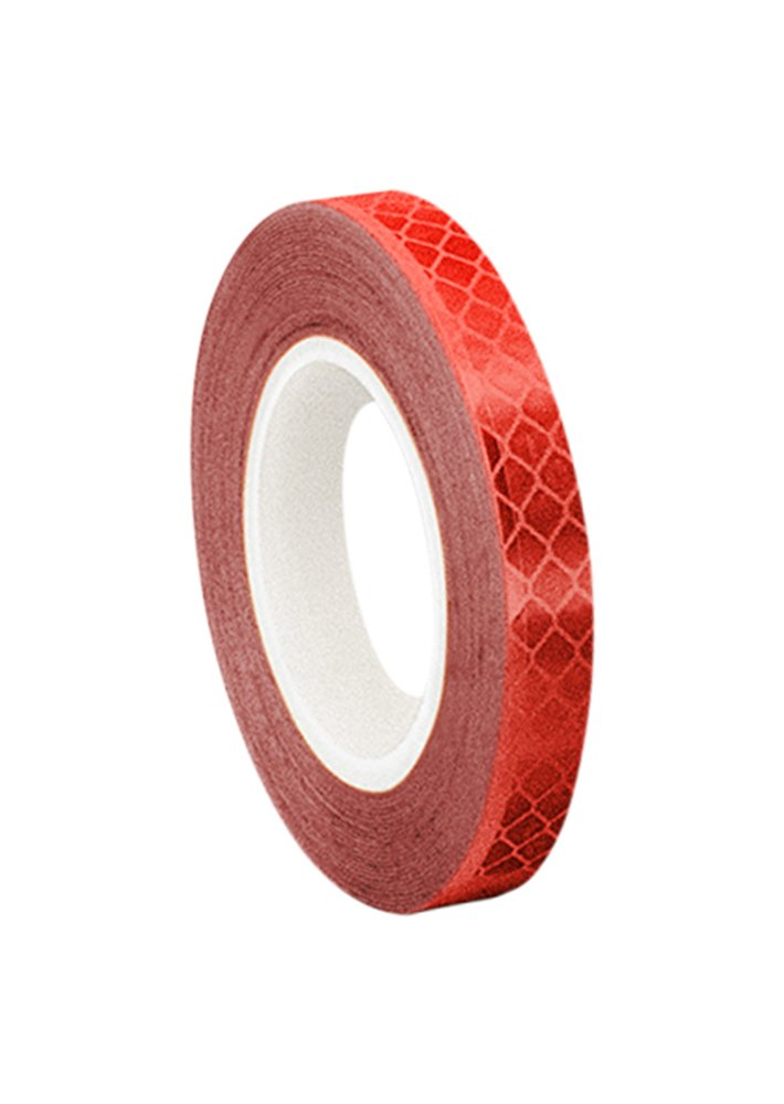 3M 3432 Red Micro Prismatic Sheeting Reflective Tape, 10mm X 4.6m (1 Roll) TapeCase 0.375-5-3432