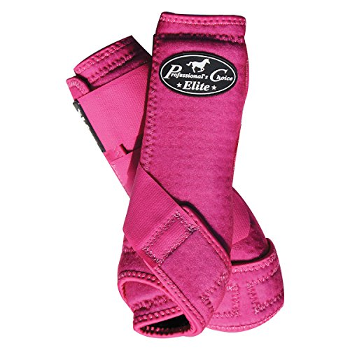 Professional Choice Ventech Elite Boots - Rear Pair Large in Raspberry - Sport Raspberry Shoe