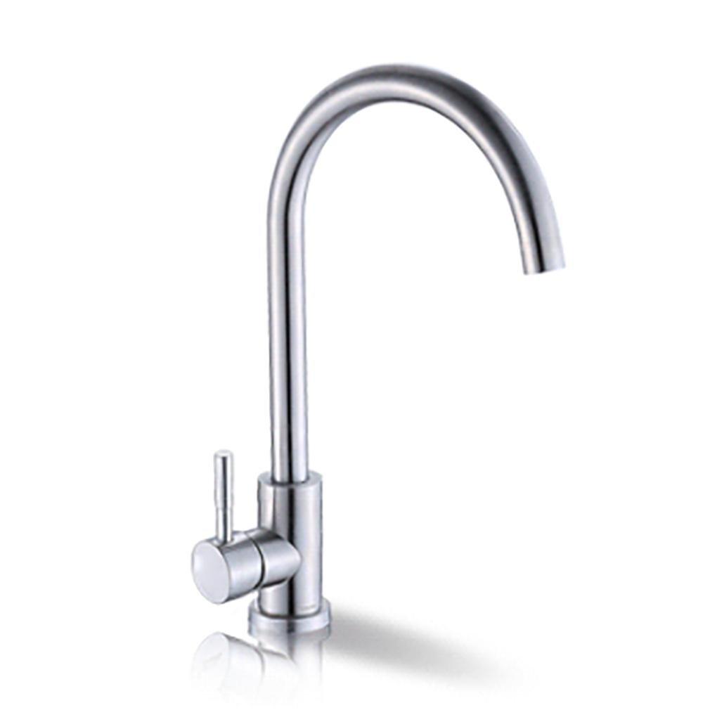 KüChe Waschbecken Waschbecken 304 Edelstahl Wasserhahn Hot And Cold , A