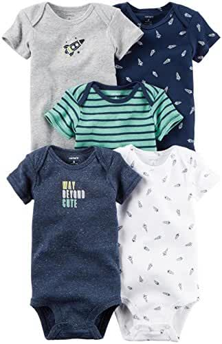 Carter's Baby Boys' 5 Pack Bodysuits (Baby)