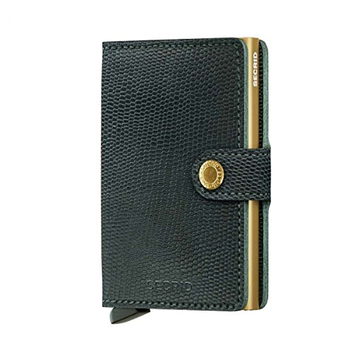 SECRID - Secrid Mini wallet Genuine Leather Rango Green Gold RFID Safe Card Case for max 12 cards by Secrid (Image #3)