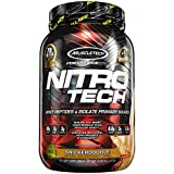 MuscleTech NitroTech Protein Powder Plus Muscle Builder, 100% Whey Protein with Whey Isolate, Snickerdoodle, 20 Servings (2lbs) Review