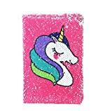 Exerz Reversible Sequin Notebook A5 Size/ Journal, Mermaid Diary / Magic Notepad, for Office / School / Gifting. Fashionable to Own, Convenient to Carry and Use - Unicorn / Pink