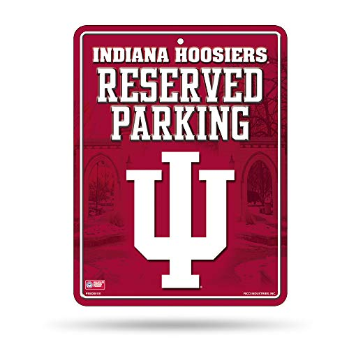Hoosiers Metal Indiana (NCAA Indiana Hoosiers 8-Inch by 11-Inch Metal Parking Sign Décor)
