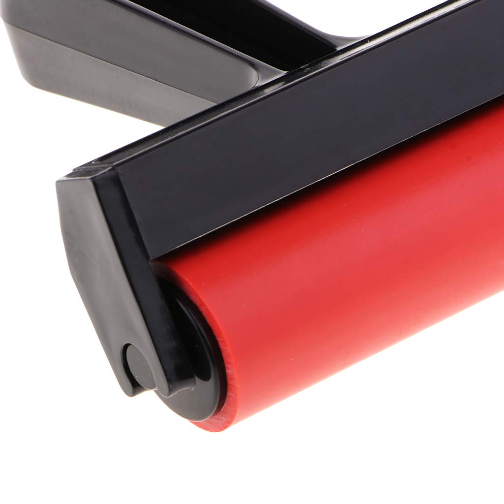 Great for Gluing Application Ink Stamping Tools Wallpapers Print Baoblaze 4-Inch Rubber Brayer Roller for Printmaking Scrapbooks Construction