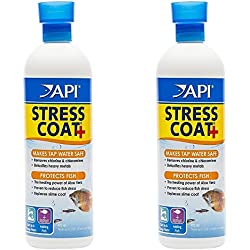 (2 Pack) API Stress Coat Fish and Tap Water Conditioner, 16-Ounce (Treats 946 Gallons) each