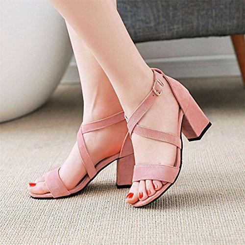 de Dedos Tacones Sandalias pies Sandalias y de Altos Mujer Sandalias Sandalias Sandalias los Pink UwX7dxd