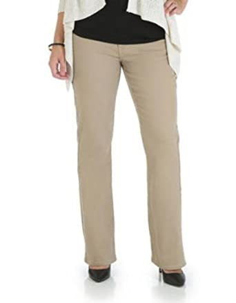 f6e7914b51cf Lee Women s Mid-Rise Boot Cut Jeans 16 Khaki at Amazon Women s Jeans store