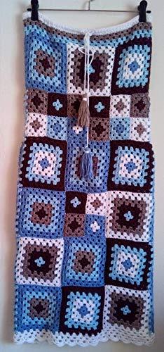 - Handmade Crochet Granny Squares Skirt Patchwork Gypsy Boho Hippie Vintage Festival