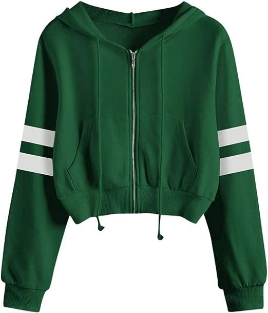 Stripe Letter Print Pullover Hoodies Coat Women Men Loose Hooded Sweatshirt Tops