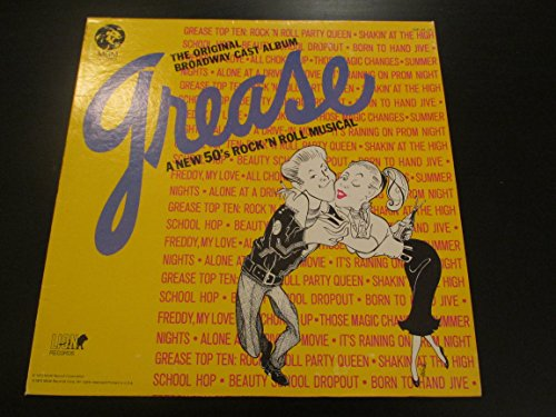 The Original Broadway Cast Album Grease a New 50's Rock'n Roll Musical