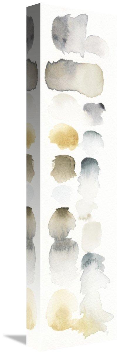 Global Gallery Elyse DeNeige Watercolor Swatch Panel Neutral I Canvas Artwork 5.72 x 22