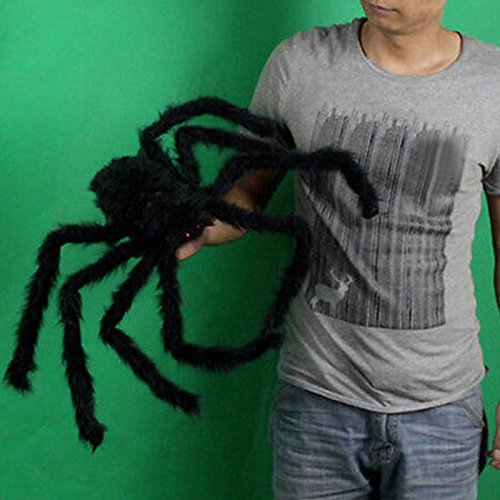 Spider Horror Ghost Props Toys Party Bar Decorative Props Supplies Large Plush Spider Haunted House 75cm -Pier 27 (Decorative Spiders)