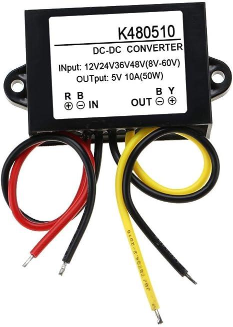 Module abaisseur de puissance abaisseur IP68 pour convertisseur abaisseur de tension Module de conversion abaisseur de tension pour module convertisseur DC12V 24V to 5V 10A 50W Convertisseur DC-DC