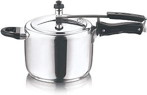 Vinod 7L Stainless Steel Inner Lid Sandwich Bottom Pressure Cooker, 7-Liter