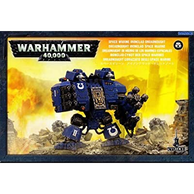"Games Workshop 99120101076"" Space Marine Ironclad Dreadnought Tabletop and Miniature: Toys & Games"
