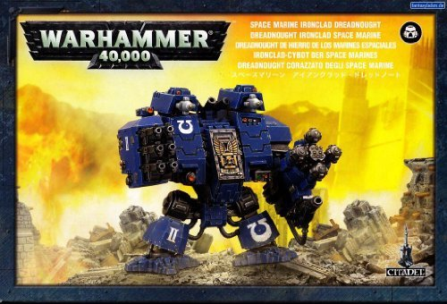 Games Workshop 99120101076'' Space Marine Ironclad Dreadnought Tabletop and Miniature
