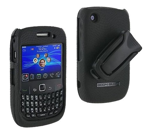 New OEM Verizon Blackberry Curve 2 8530 Body Glove Snap On Cover with Belt Clip - 8530 Curve Snap