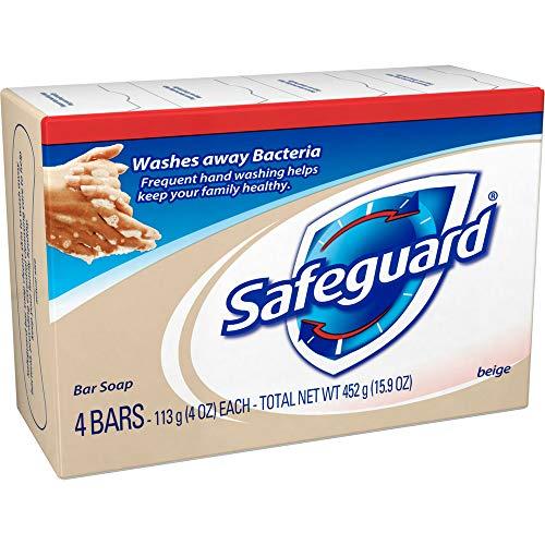 Safeguard Beige Bar Soap 4 oz, 4 bars (Pack of 2)