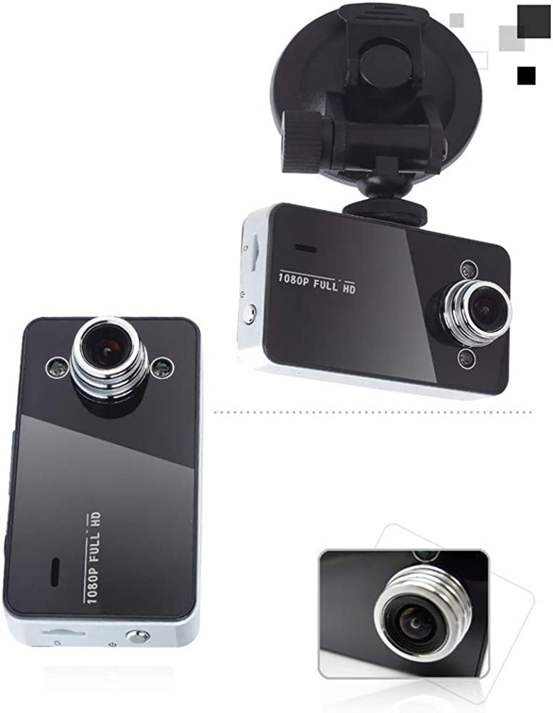 Roisay Dash Cam 1080P Portable Car Camera with 2.4/′/′ TFT LCD Screen,Full HD 140/° Wide Angle G-Sensor Night Vision Video Recorder Loop Recording Vehicle Cameras Motion Detection Parking Monitor DVR