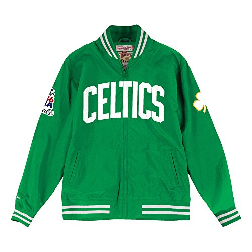 Mitchell & Ness Boston Celtics Team History Warm Up Jacket (Boston Celtics Warm Up Jacket)