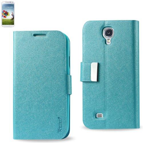 Reiko SAMS4BL FC20, Magnetverschluss, Schutzhülle für Samsung Galaxy S4, Blau