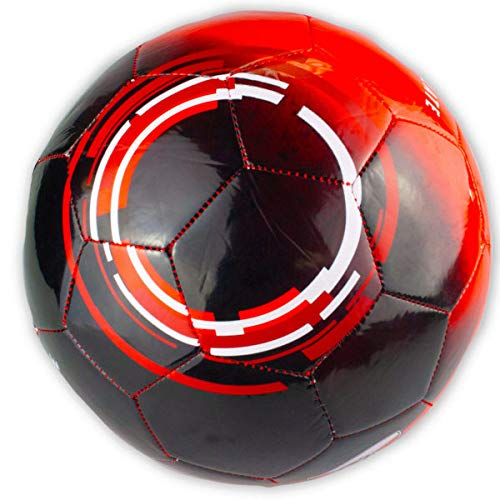 Size 5 Argentina River Plate Black & Red Soccer Ball - 2/Pack (1 Pack) by bulk buys