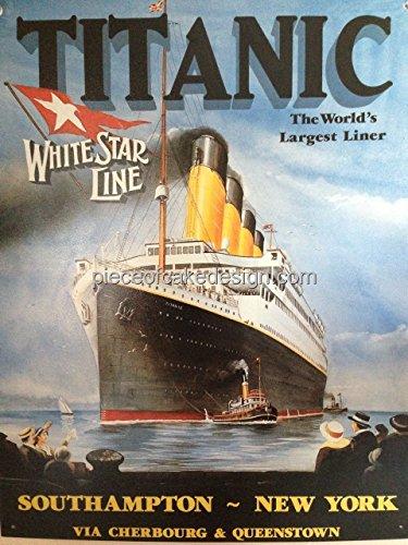 1/4 Sheet ~ Titanic World's Largest Liner Birthday ~ Edible Cake/Cupcake Topper!!!