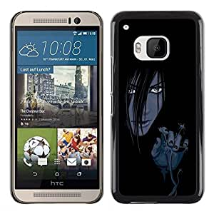Be Good Phone Accessory // Dura Cáscara cubierta Protectora Caso Carcasa Funda de Protección para HTC One M9 // Evil Anime Girl