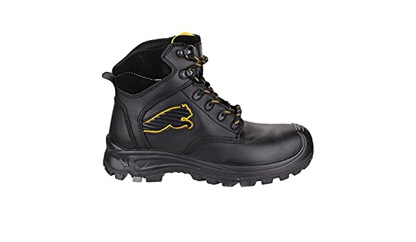 Puma Safety Borneo Mid - Botas de seguridad, color Negro, talla 41 EU: Amazon.es: Zapatos y complementos
