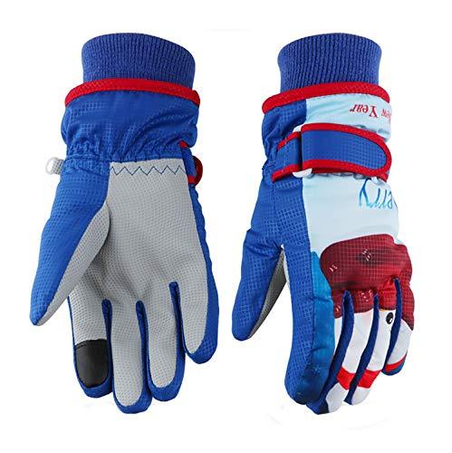 (Kids Ski Gloves,Winter Warmest Waterproof and Breathable Snow Gloves for Boys Girls Children Skiing,Snowboarding Shoveling Windproof Juniors Thermal Gloves GL8 Snowman-S)