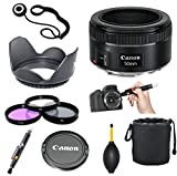 Canon EF 50mm f/1.8 STM + Commander 3pc Filter Kit + 2 In 1 Lens Pen + Dust Blower + Lens Hood + Lens Pouch + Cap Keeper