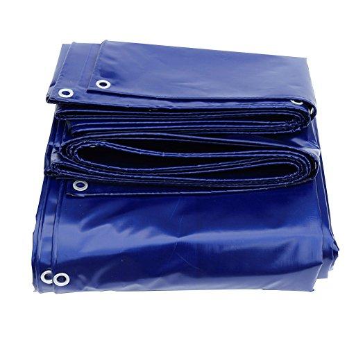 色建物優しいPENGFEI タープ オーニング サンシェードPVC 厚いプラットフォームの天幕 アンチエイジング ハーディー 防水 -550g/m 2、 ブルー、 厚さ0.45mm、 8サイズあり 防水カバー (サイズ さいず : 5 x 6m)