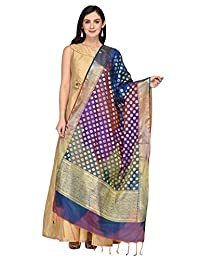 Dupatta Bazaar Woman's Multicoloured Woven Banarasi Silk dupatta