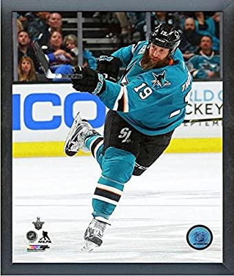 "Joe Thornton San Jose Sharks 2016 NHL Stanley Cup Playoffs Action Photo (Size: 12"" x 15"") Framed"