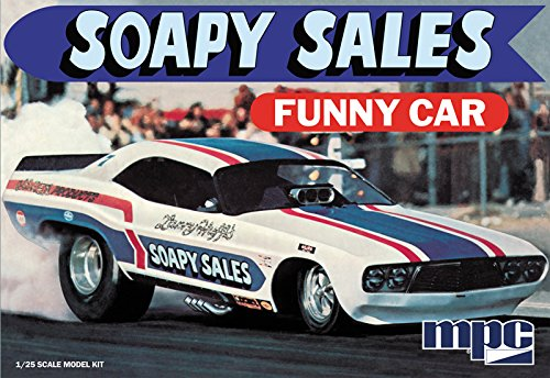 C.P.M. MPC MPC831 1:25 Scale Soapy Sales Dodge Challenger Funny Car Model Kit
