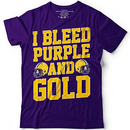 I Bleed Purple And Gold Minnesota Louisana Football Customized Handmade T-Shirt Hoodie/Long Sleeve/Tank Top/Sweatshirt
