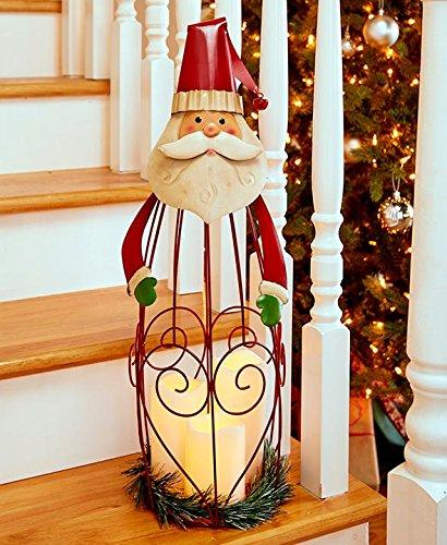The Lakeside Collection LED Candle Holiday Lantern - Santa ()