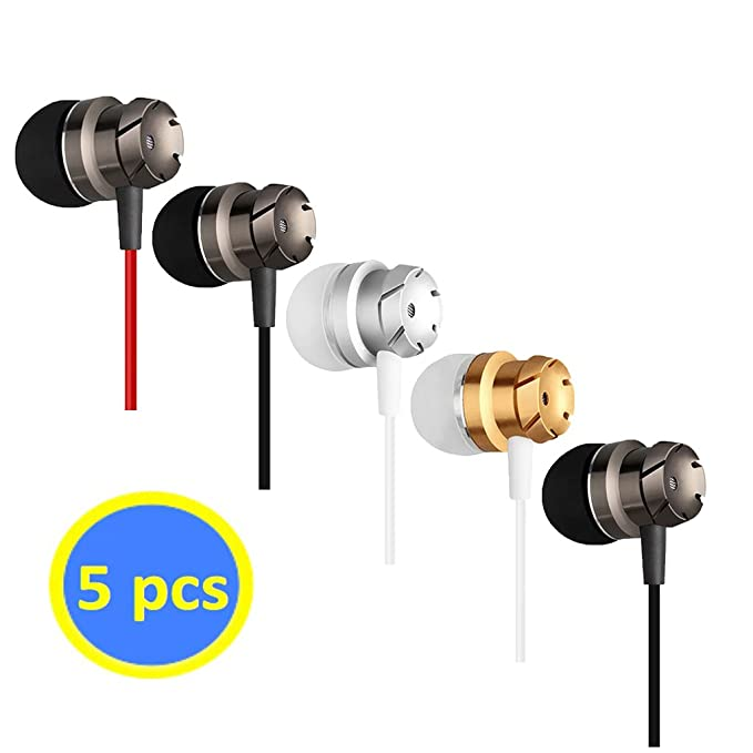Geeboy 4326546074 Headphones Wholesale 5 in-Ear Mic 3.5mm Electronics Wired Headphones (Earphones/Earbuds/Headset), MP3 Walkman(5 Colors) Best Cheap Earbuds
